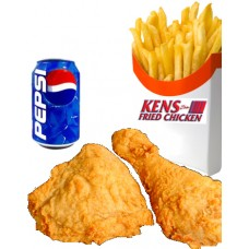 2 pcs of Chicken, Fries & Drink