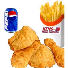 4 pcs of Chicken, Fries & Drink