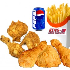 6 pcs of Chicken, Fries & Drink